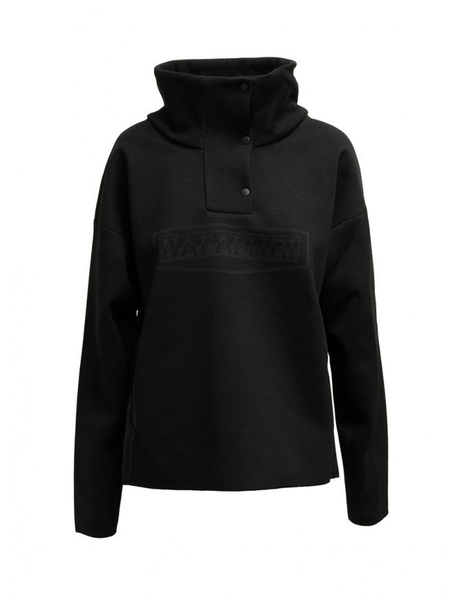 Napapijri Ze-Knit Ze-K243 black jacket with buttons N0YKBP041 ZE-243 BLACK womens jackets online shopping