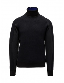 Mens knitwear online: Napapijri Ze-Knit Ze-K237 black high collar sweatshirt