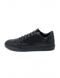 John Varvatos Reed lizard scales effect black sneakers