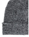 John Varvatos Slouchy fit grey beanie shop online hats and caps