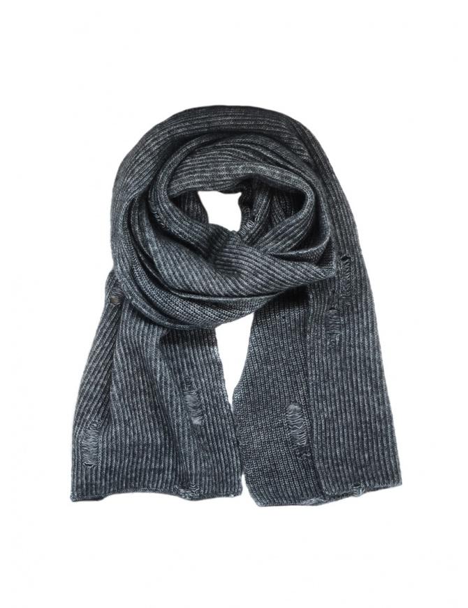 John Varvatos sciarpa sdrucita grigia V898V3 BRN13 014 CHARCOAL HTR sciarpe online shopping