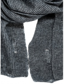 John Varvatos distressed scarf grey