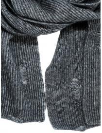 John Varvatos sciarpa sdrucita grigia