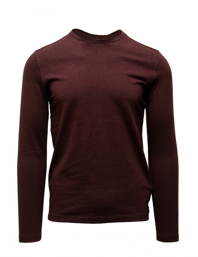 John Varvatos burgundy long sleeved T-shirt K3144V3 BRD22 621 SCARLET mens knitwear online shopping