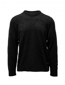 John Varvatos black sweater cracked effect online