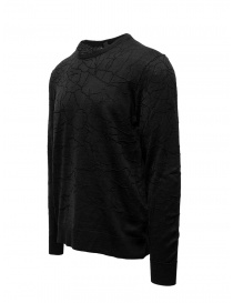John Varvatos black sweater cracked effect