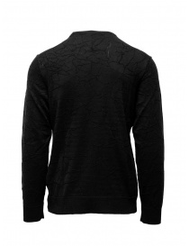 John Varvatos black sweater cracked effect price