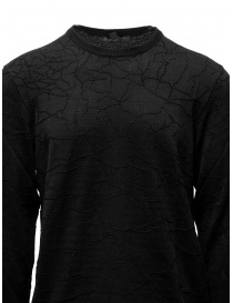 John Varvatos black sweater cracked effect mens knitwear buy online