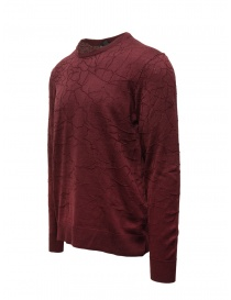 John Varvatos burgundy sweater cracked effect price