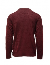 John Varvatos burgundy sweater cracked effect mens knitwear buy online