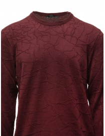 John Varvatos burgundy sweater cracked effect