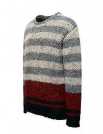 John Varvatos maglione da uomo jacquard a righe
