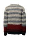 John Varvatos maglione da uomo jacquard a righe Y2676V3 BRU21 057 GREY HTHR prezzo