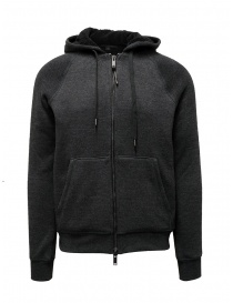 John Varvatos Trenton Sherpa gray hoodie online