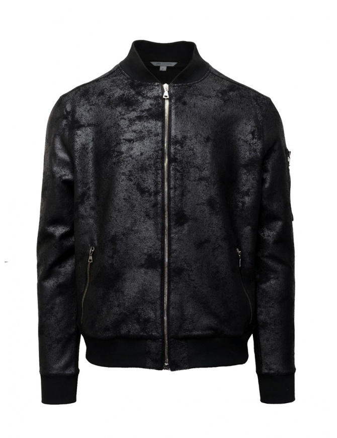 John Varvatos black bomber jacket with vintage effect K3202V3 BRG23 001 BLACK mens jackets online shopping