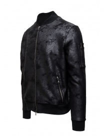 John Varvatos black bomber jacket with vintage effect price