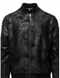 John Varvatos black bomber jacket with vintage effect buy online