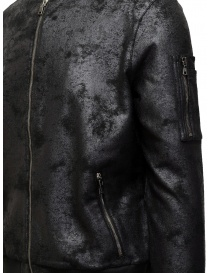 John Varvatos black bomber jacket with vintage effect mens jackets price