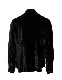 John Varvatos camicia alla coreana in velluto nero prezzo