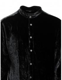 John Varvatos camicia alla coreana in velluto nero camicie uomo acquista online