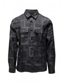 Mens shirts online: John Varvatos bandana grey shirt