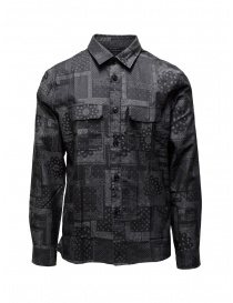 John Varvatos bandana grey shirt W640V3 71WA 001 BLACK order online