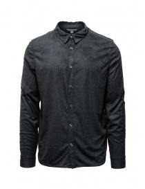 John Varvatos snap front grey shirt online