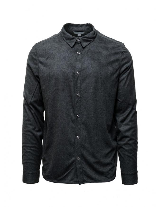 John Varvatos snap front grey shirt W684V3 BRJ25 012 CHARCOAL mens shirts online shopping