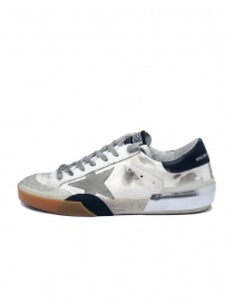Golden Goose Superstar sneakers in white and black with grey star