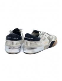 Sneaker Golden Goose Superstar bianca e nera con stella grigia prezzo