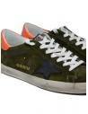 Sneaker Golden Goose Superstar scamosciata verde con stella nera G35MS590.Q69 GREY SUEDE-BLK ST acquista online