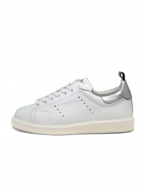 Golden Goose Starter bianche con tallone argento