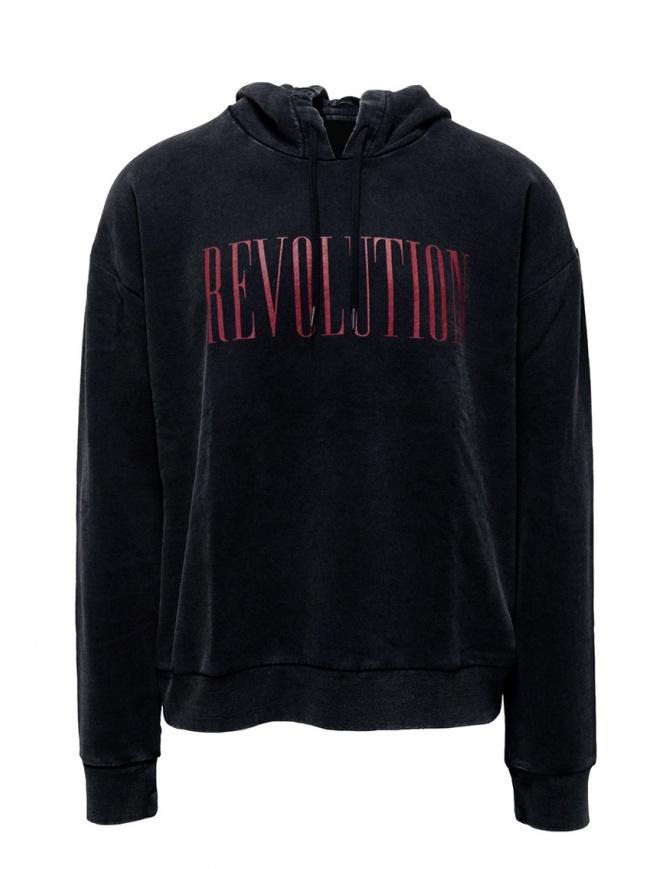 John Varvatos Revolution hoodie black KG4415V2B BPU21B 001 BLACK mens knitwear online shopping