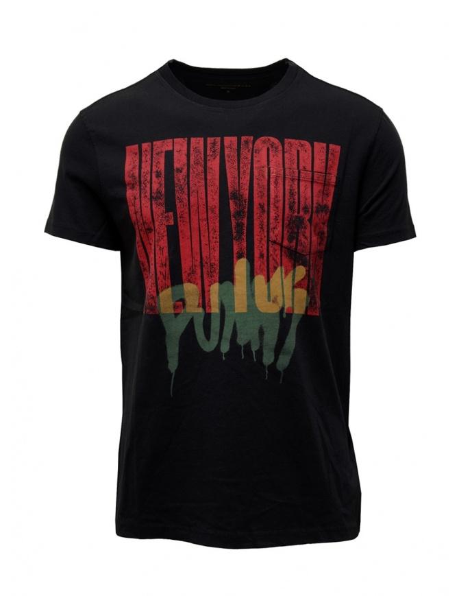 John Varvatos New York Punks T-shirt KG4581V3B BNB7B 001 BLACK mens t shirts online shopping