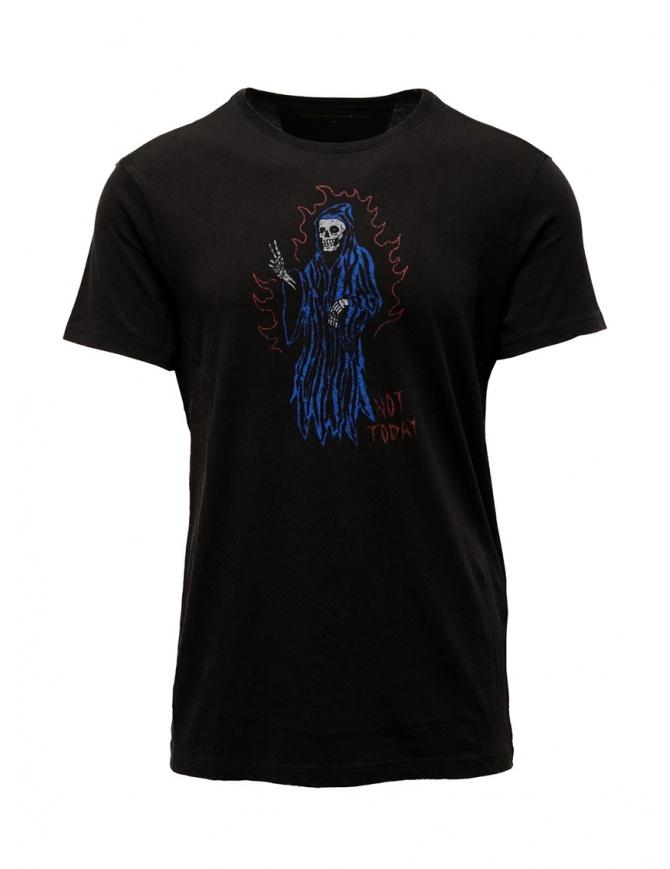 John Varvatos T-shirt Not Today nera KG4597V3B KW3B1 001 BLACK t shirt uomo online shopping