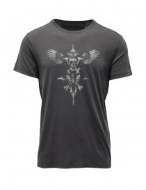 John Varvatos maglietta con teschio alato grigia online