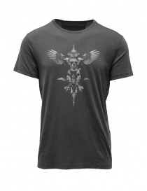 John Varvatos winged skull T-shirt grey online