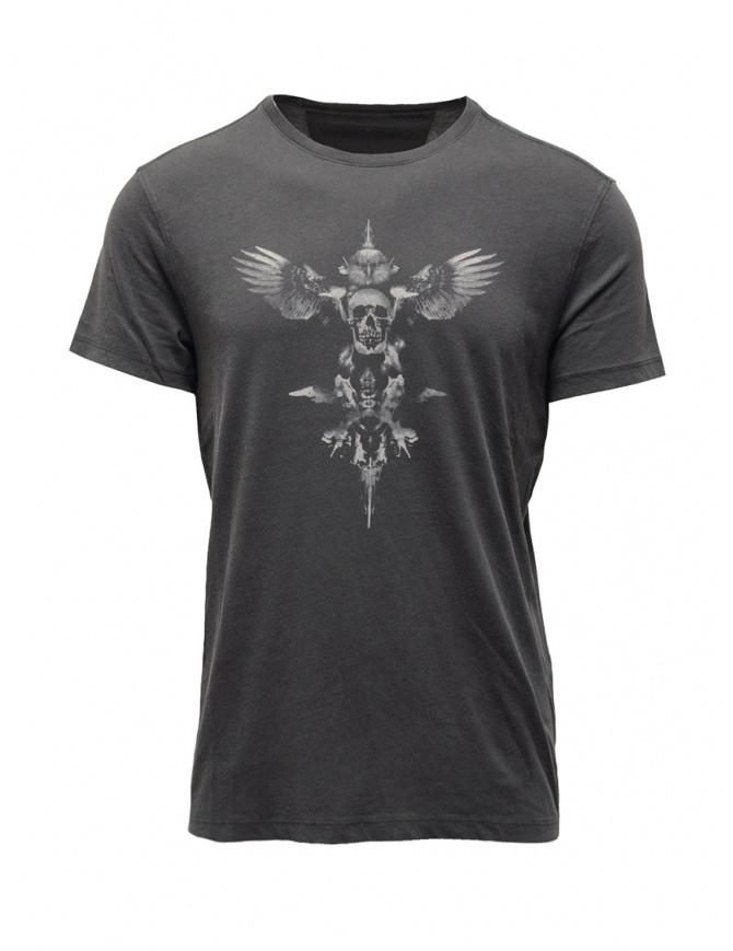 John Varvatos maglietta con teschio alato grigia KG4613V3B KW3B1 013 COAL t shirt uomo online shopping