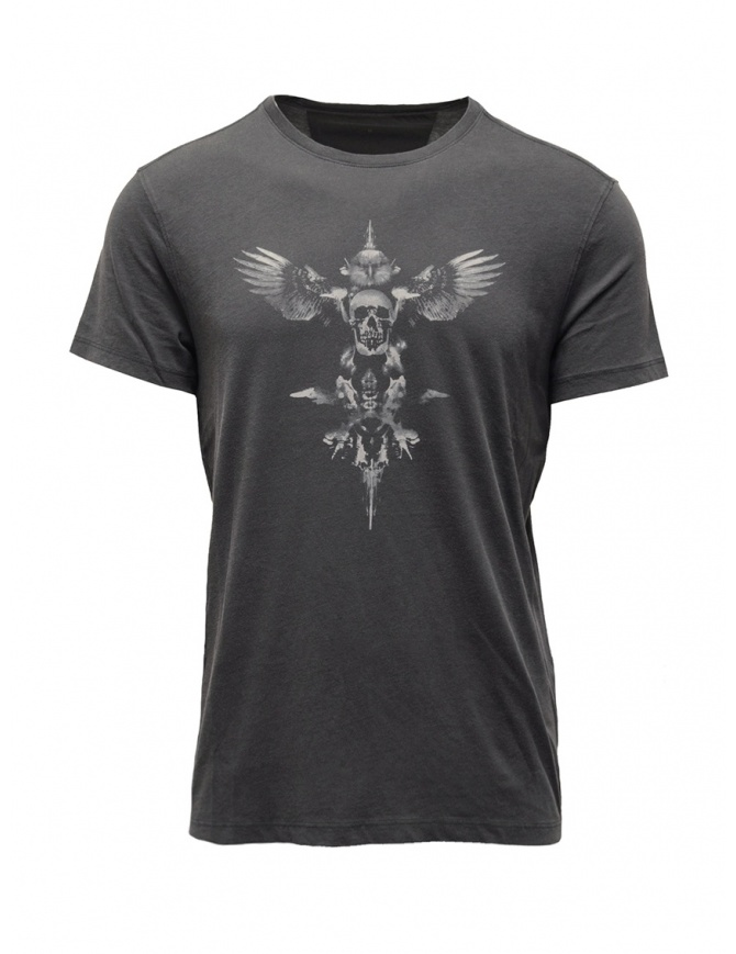 John Varvatos winged skull T-shirt grey KG4613V3B KW3B1 013 COAL mens t shirts online shopping