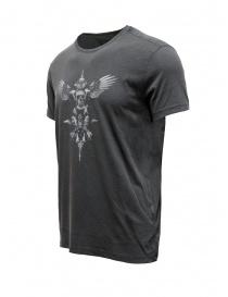 John Varvatos maglietta con teschio alato grigia prezzo