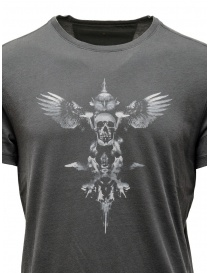 John Varvatos maglietta con teschio alato grigia