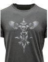 John Varvatos maglietta con teschio alato grigiashop online t shirt uomo