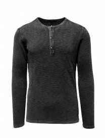 John Varvatos Nashville waffle henley grey sweater-shirt online