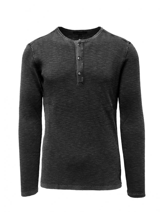 John Varvatos Nashville waffle henley grey sweater-shirt Y1891V3B BRT20B 012 CHARCOAL mens knitwear online shopping