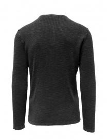 John Varvatos Nashville waffle henley grey sweater-shirt mens knitwear buy online