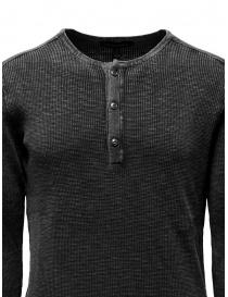 John Varvatos Nashville waffle henley grey sweater-shirt