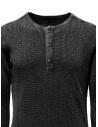 John Varvatos Nashville waffle henley grey sweater-shirt shop online mens knitwear