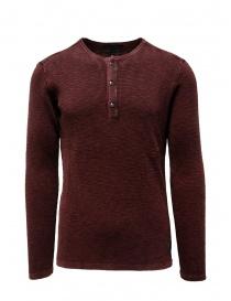 John Varvatos Nashville waffle henley red sweater-shirt online