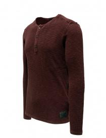 John Varvatos Nashville waffle henley red sweater-shirt price