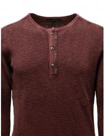 John Varvatos Nashville waffle henley red sweater-shirt